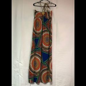 Large maxi dress very colorful pattern